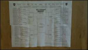 NCAA Bracket in M's Clubhouse