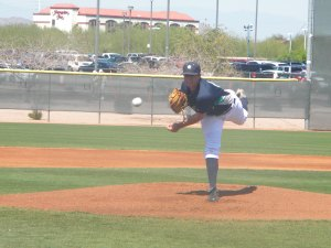 Danny Hultzen throws a pitch during AAA game