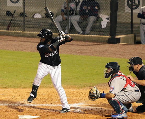 Julio Morban went 4-for-4 with 2 2B, 3B, 4 RBI yesterday. Upped hitting streak to 12. (Seth Chandler)