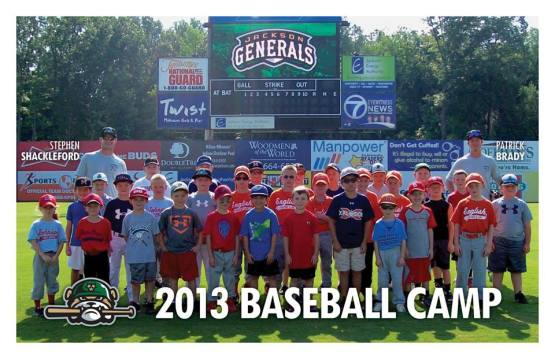 Patrick Brady and Stephen Shackleford led today's Generals Baseball Camp. (Andrew Key)