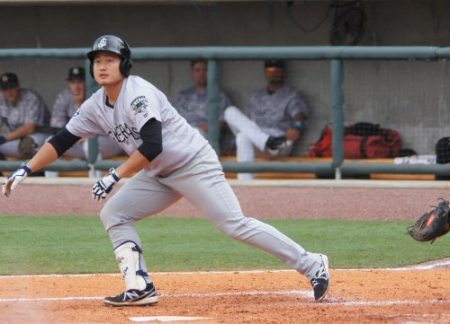 Ji-Man Choi hit his 4th Jackson home run and 11th overall on the season last night (John Shadrick)
