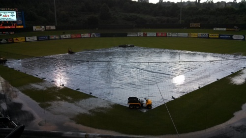 Smokies Park was pummeled by rain over the last two days.