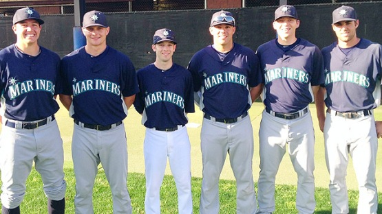 Danny Hultzen, John Hicks, Keith Werman, Steven Proscia, Andrew Carraway and Chris Taylor all played at Virginia. Three now with Generals (Mariners)