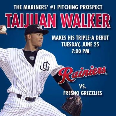 Yesterday afternoon Tacoma already began promoting Taijuan's first home start. (Tacoma Media Relations)
