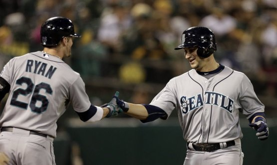 Former General Mike Zunino blasted his first MLB HR last night in Oakland. (THEARON W. HENDERSON/GETTY IMAGES)