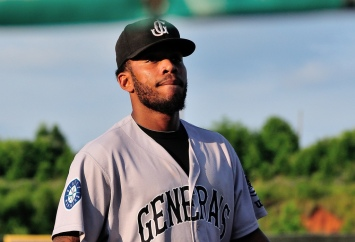 Leon Landry was 2-for-3 with an RBI in last night's 5-3 win over Birmingham. (Roger C. Hoover)