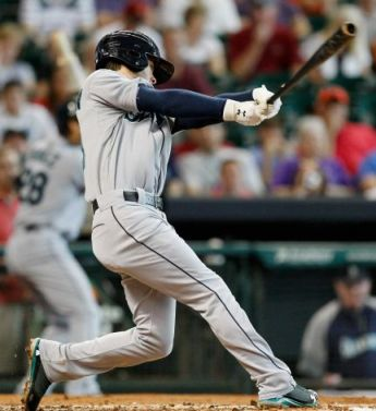 Former General Nick Franklin hit his first career grand slam for Seattle Sunday in Houston. (Bob Levey/AP)