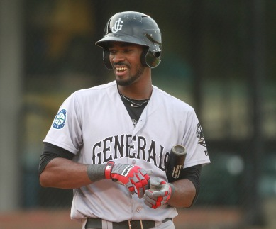 Jabari Blash blasted 2 home runs in the 4th inning last night.