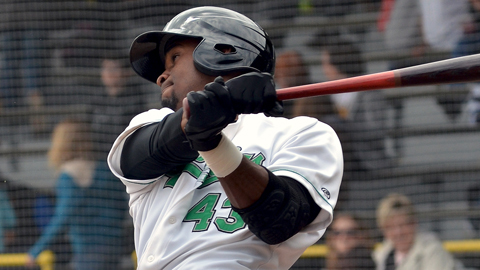 Jabari Blash homered in his first Jackson at-bat yesterday.
