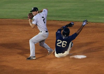 Chris Taylor collected 3 hits last night in Jackson's loss.