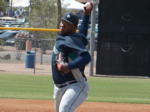 Victor Sanchez on Sunday against Padres AA club.
